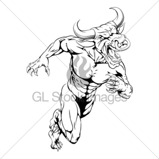 325x325 Bull Drawing Gl Stock Images