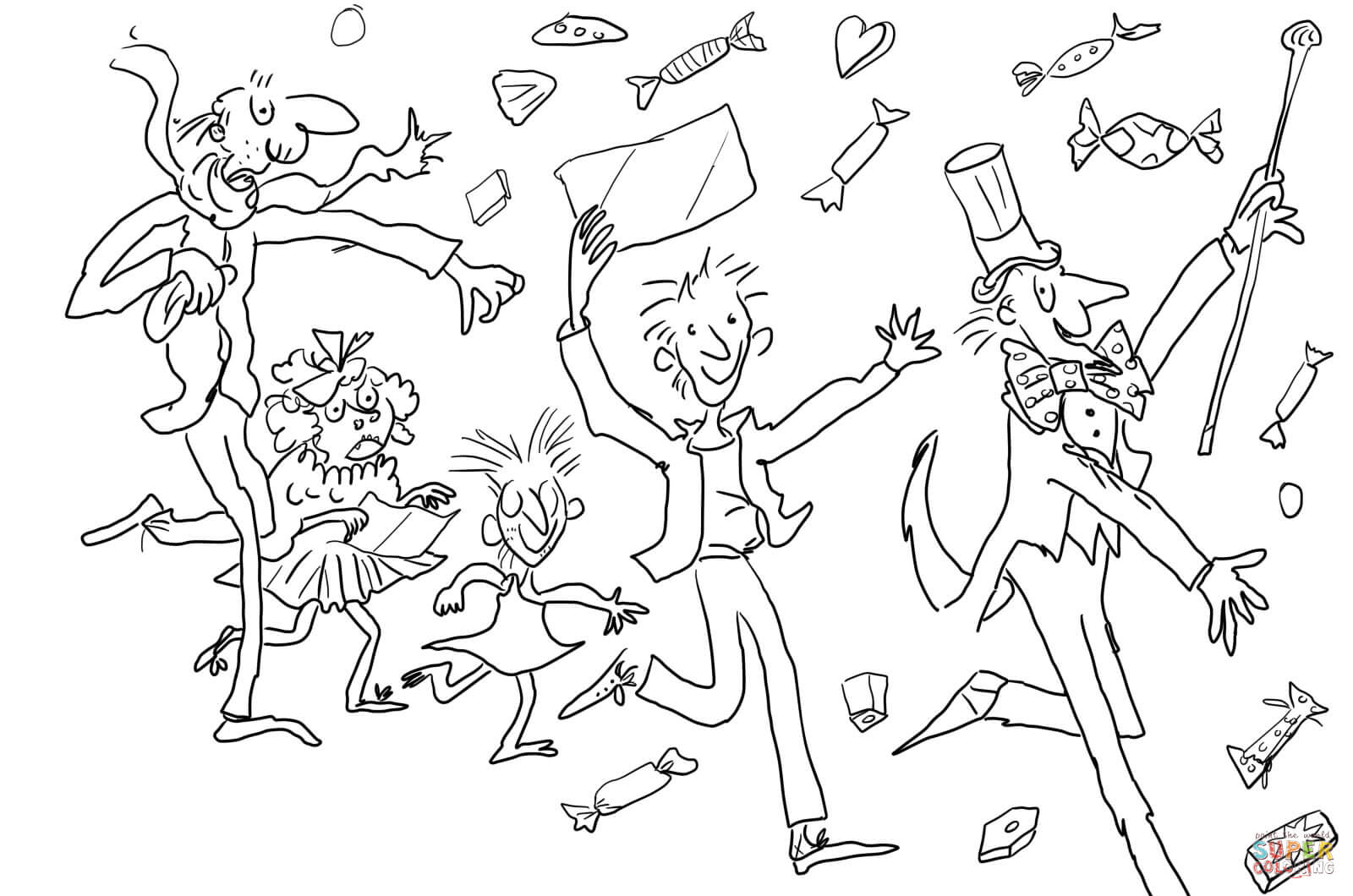1600x1060 Charlie And The Chocolate Factory Coloring Page Free Printable