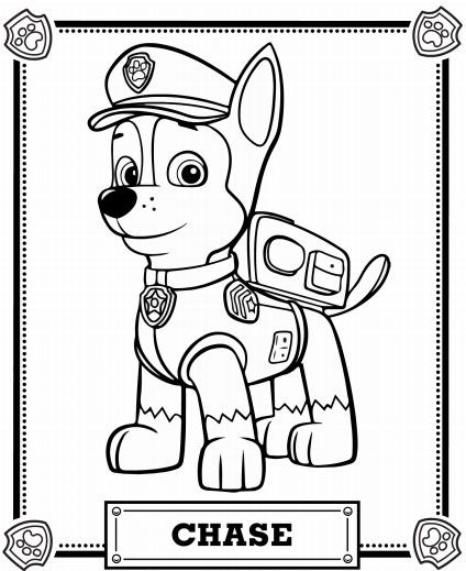 424x519 Paw Patrol Coloring Pages