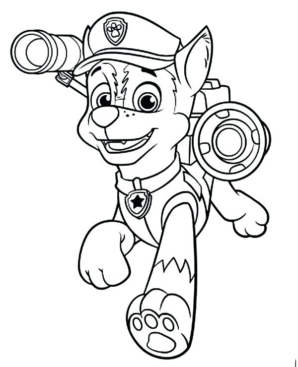 Chase Paw Patrol Drawing at GetDrawings | Free download