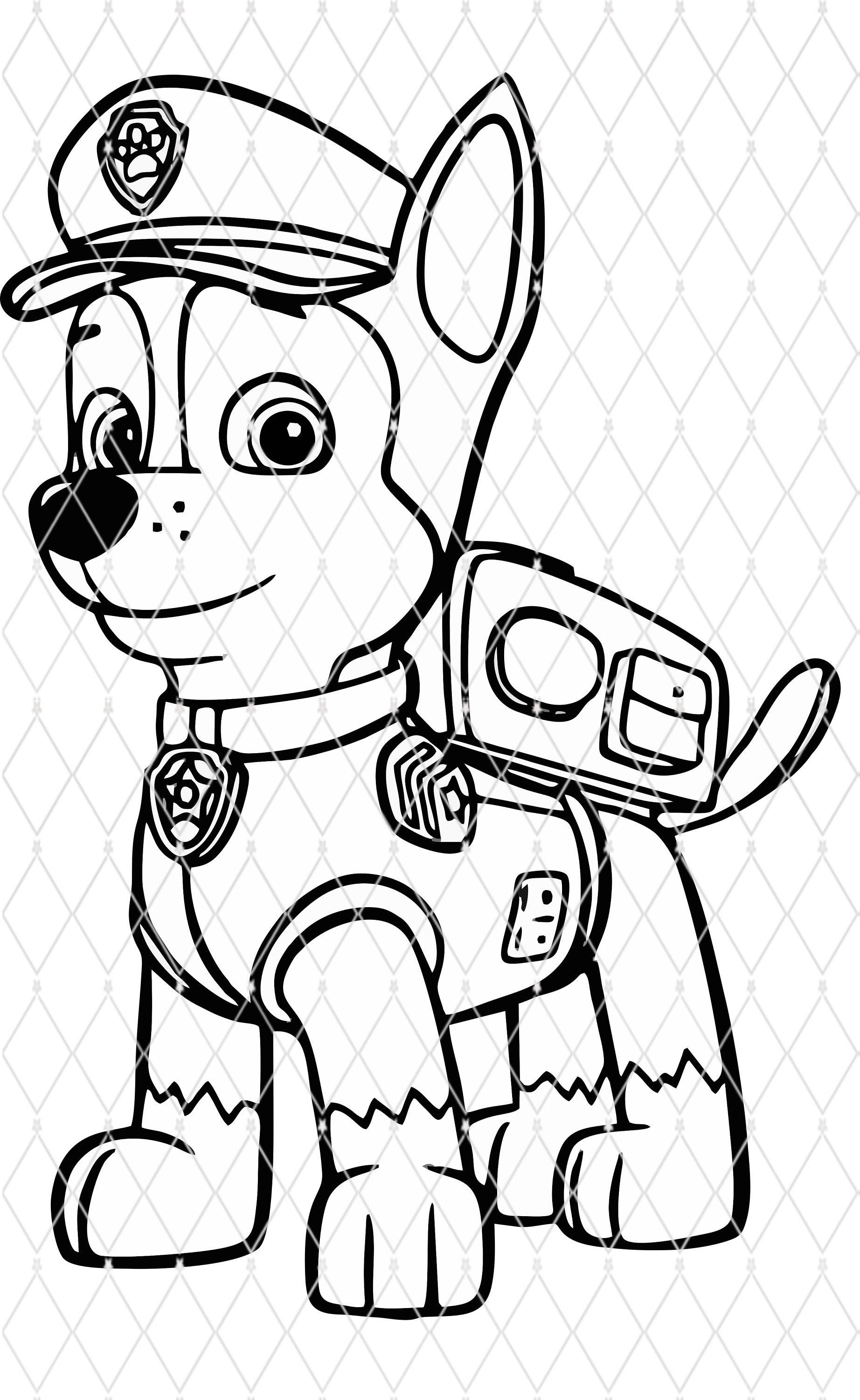 Paw Patrol Ausmalbilder Chase : Chase Paw Patrol Drawing At Getdrawings Com Free For Personal Use