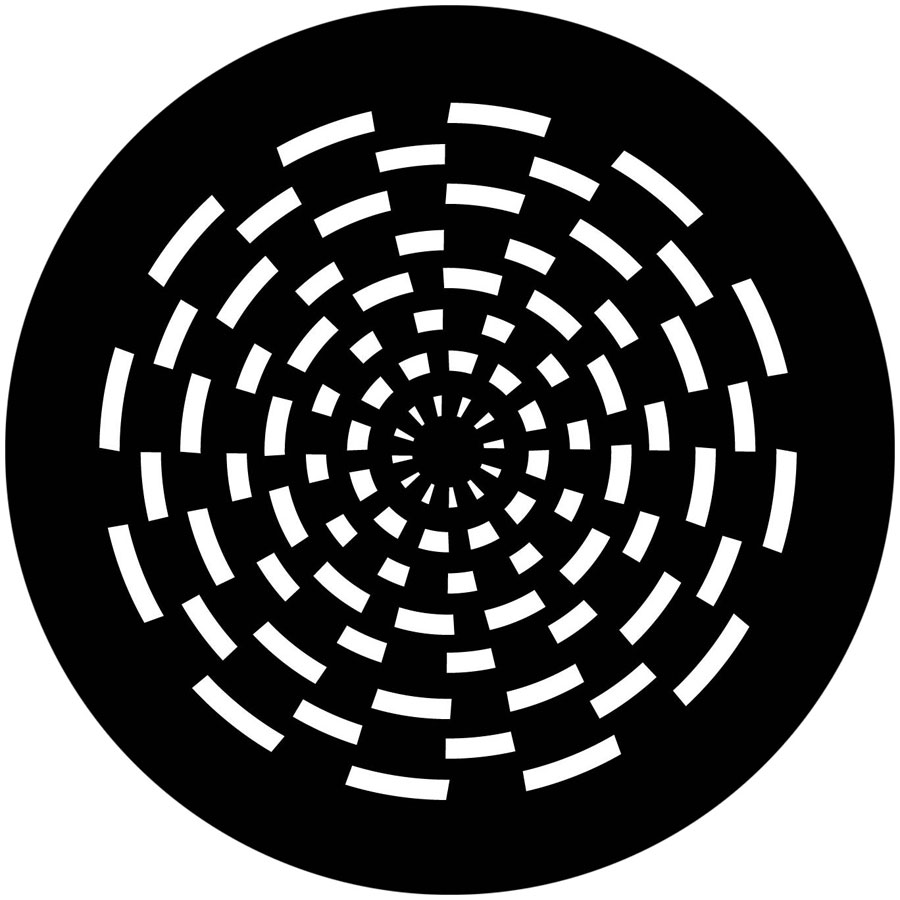 900x900 Vortex Checkerboard Apollo Gobo 1316