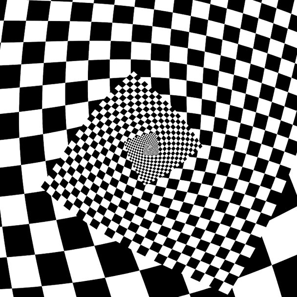 608x608 Laminated 24x24 Poster Checkerboard Checkered Droste