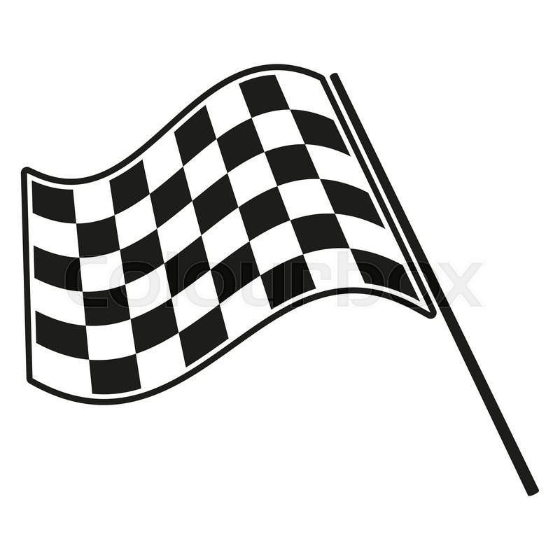 800x800 Checkered Flag Racing. Stock Vector Illustration. Clip Art Stock