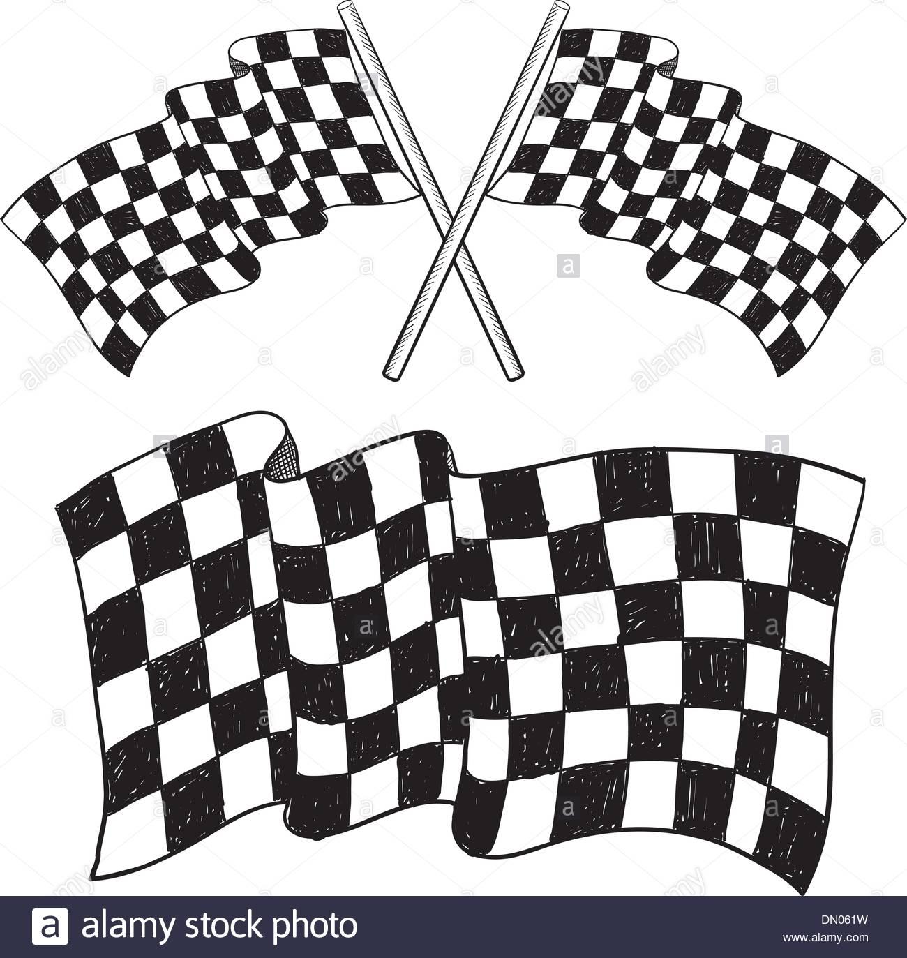 1300x1373 Checkered Flag Sketch Stock Vector Art Amp Illustration, Vector