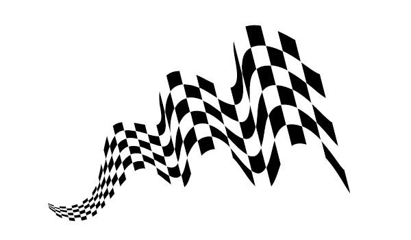 600x350 Create Waving Checkered Flag Art In Adobe Illustrator