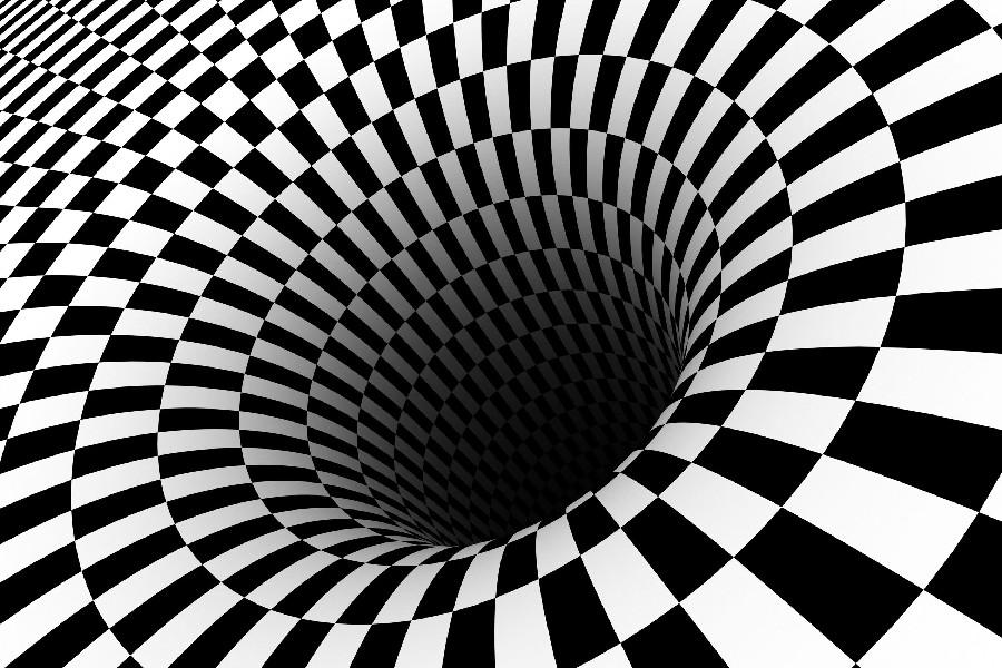 900x600 Diy Frame Black Hole Checkered Vortex Optical Illusions Cloth Silk