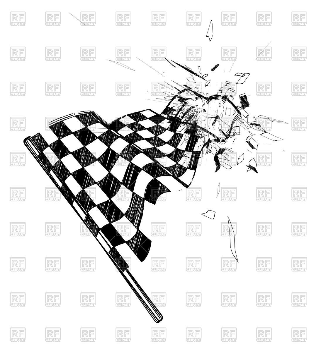 1095x1200 Drawing Checkered Flag Royalty Free Vector Clip Art Image