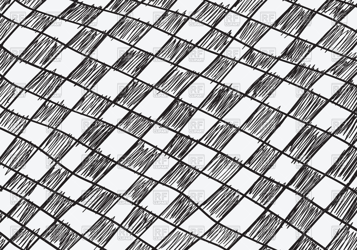 1200x841 Hand Drawn Seamless Chequered Background Royalty Free Vector Clip