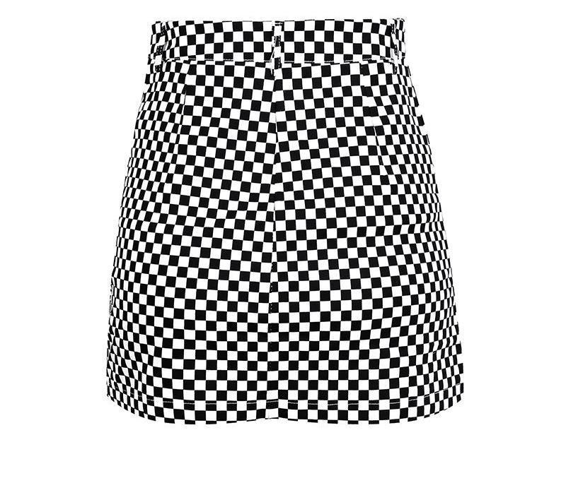800x701 Last Lap Checkered Plaid Mini Skirt Afteramour