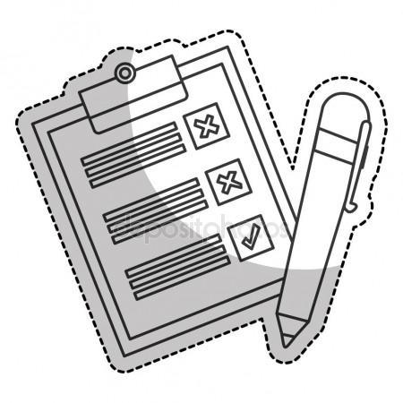 450x450 Checklist Document Sheet Stock Vector Djv