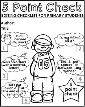 276x350 Free Printable Editing Checklist For Primary Writers, With Visual