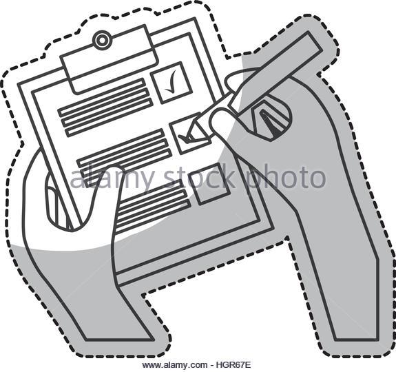 575x540 Hands Checklist Icon Over White Stock Photos Amp Hands Checklist