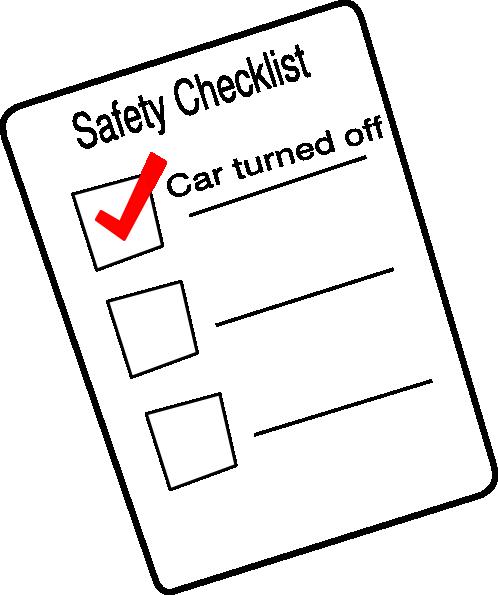 498x595 Safety Checklist Clip Art