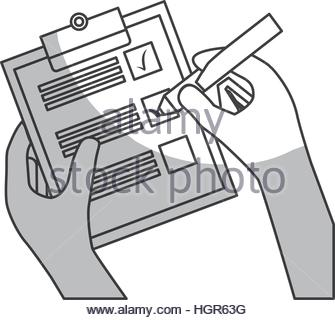 335x320 Pencil With Checklist And Checkmark Over White Background. Vector