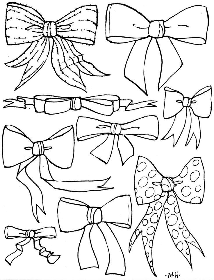 736x961 Bows Coloring Pages Cheer Bow Clipart