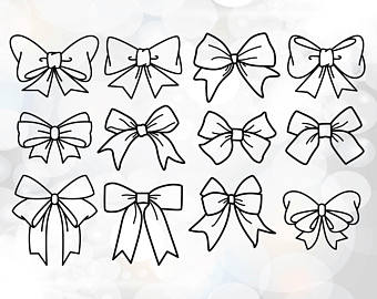340x270 Cheer Bow Clipart Etsy