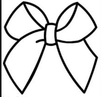 Cheer Bow Drawing
