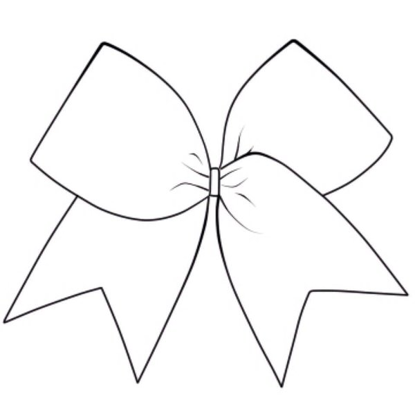 cheer bow drawing at getdrawings com free for personal cheerleading victory cheerleader vector clipart