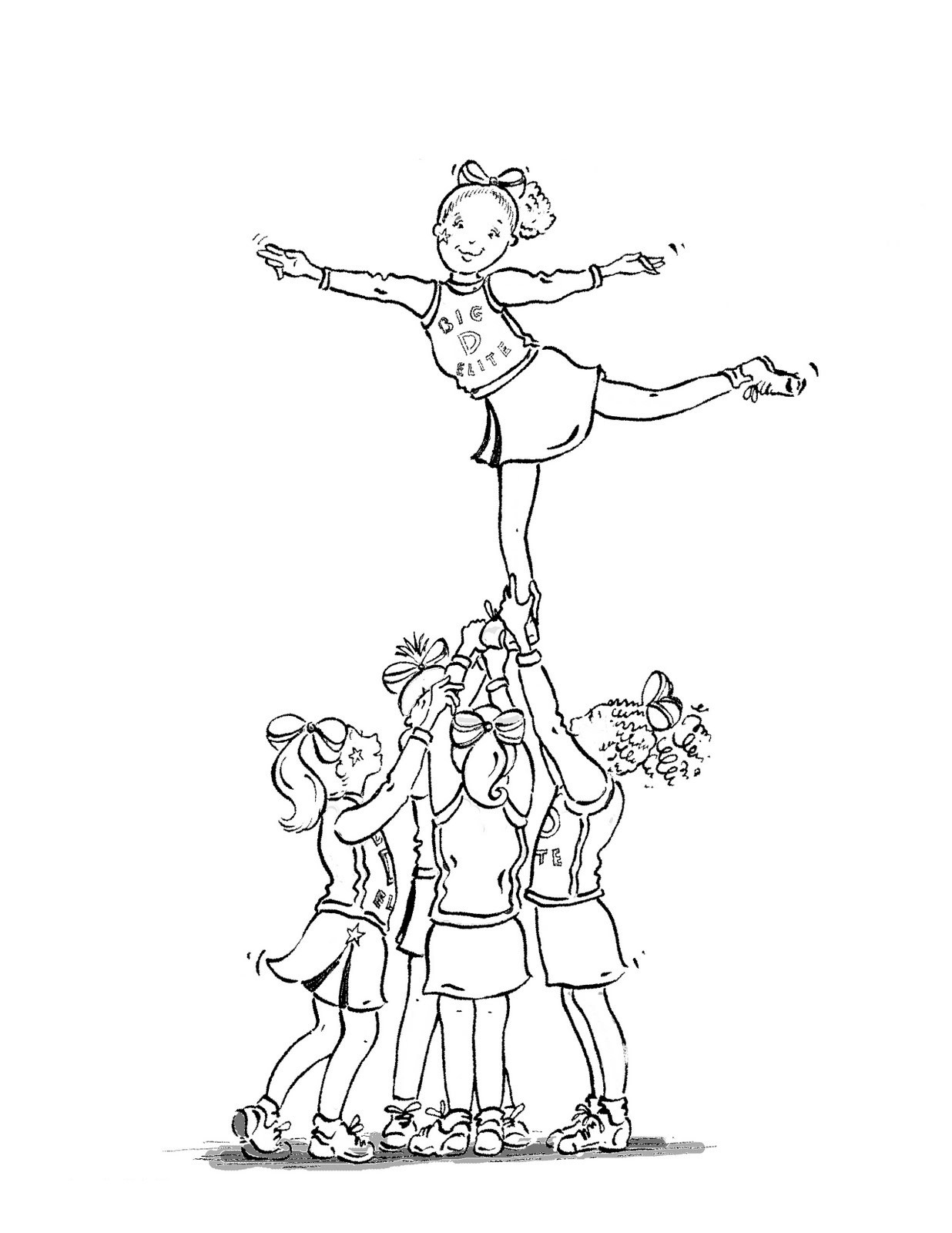 1236x1600 Cheerleading Coloring Pages Free Draw To Color