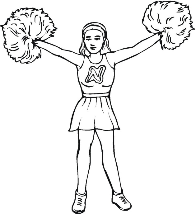 630x687 Coloring Pages Cheerleading Coloring Pages 2 Cheer3 Cheerleading