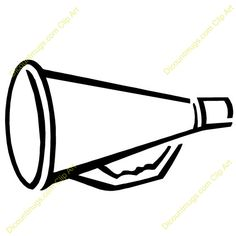 cheer megaphone drawing at getdrawings com free for personal use rh getdrawings com  cheer megaphone clipart black and white