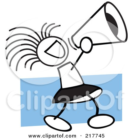 450x470 Clipart Of A Black And White Megaphone And Cheerleading Pom Pom