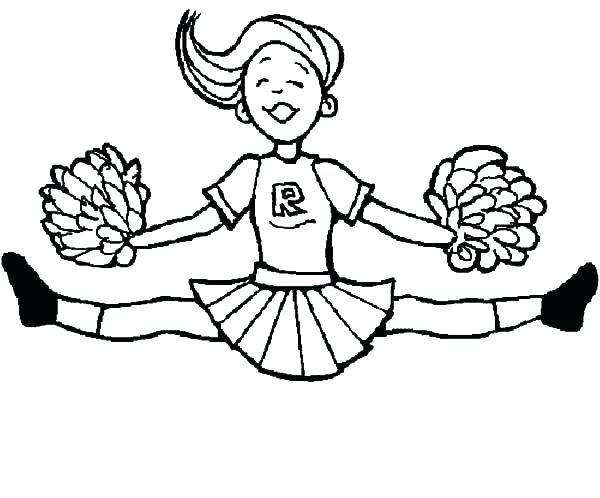600x498 Ideal Cheerleading Coloring Pages Crayola Photo Attracting