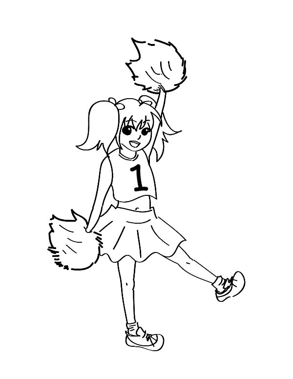 600x776 Manga Drawing Cheerleader Coloring Pages Best Place To Color