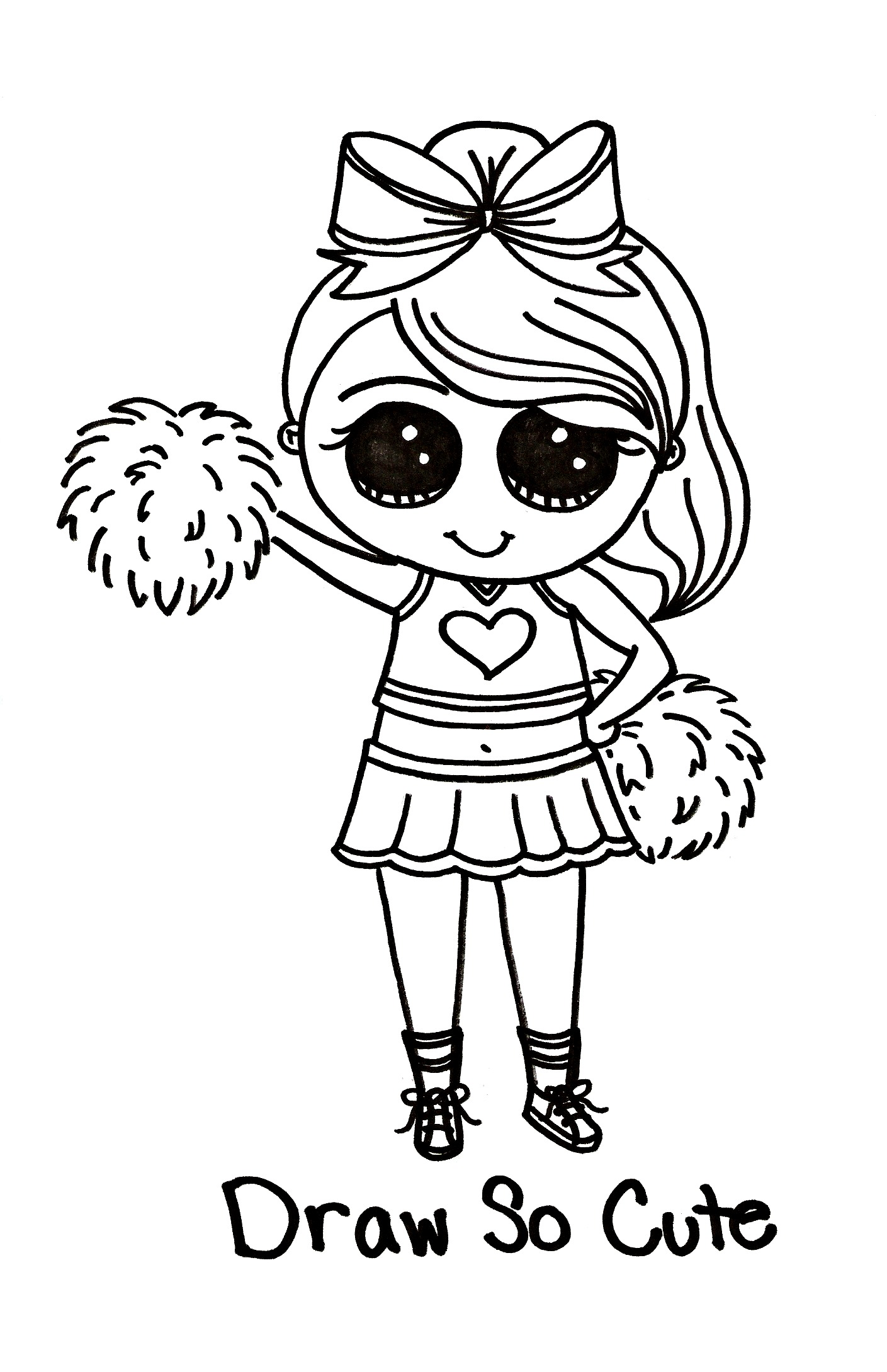 1409x2179 Cheerleader Coloring Pages