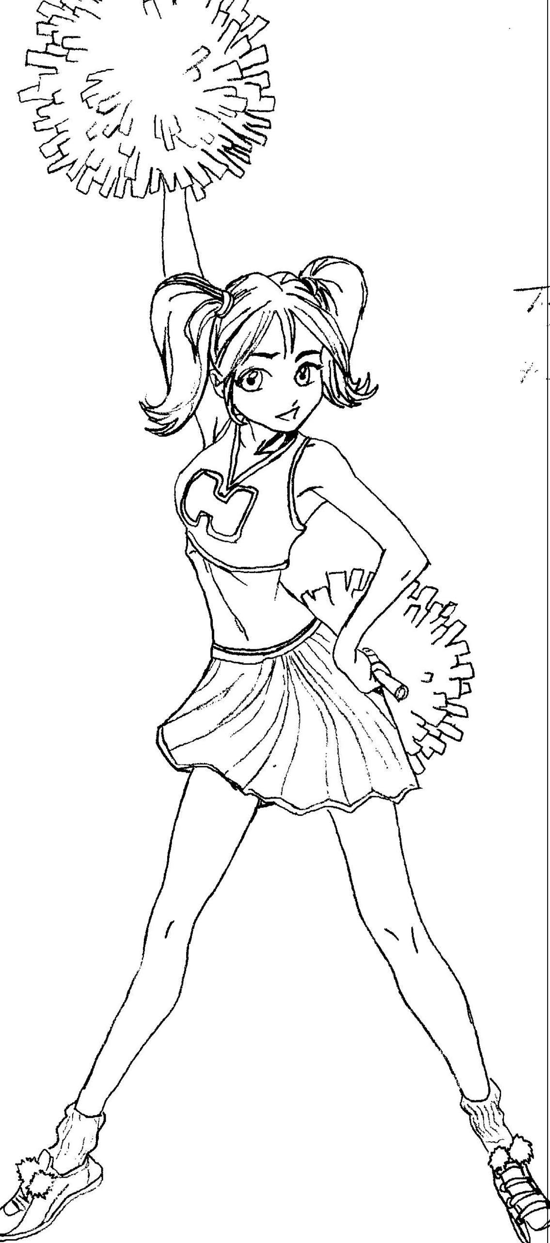 1135x2564 Cheerleader Drawing