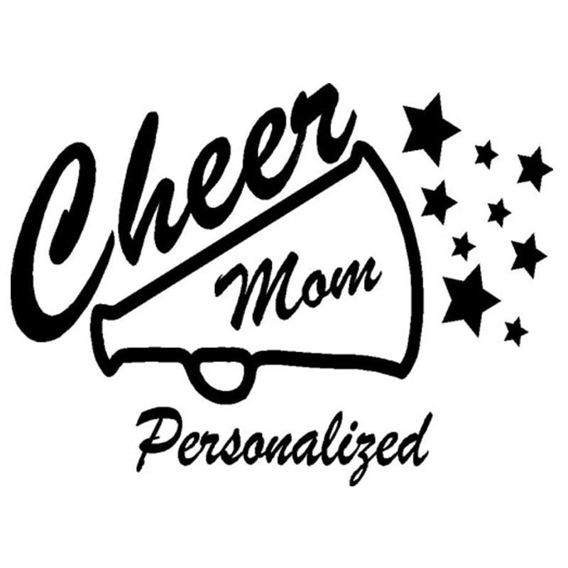 800x800 Cheer Mom Megaphone Sticker