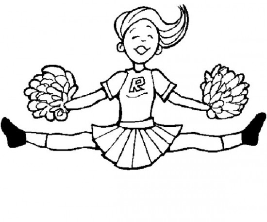 550x457 awesome cheerleading coloring pages 95 with additional free