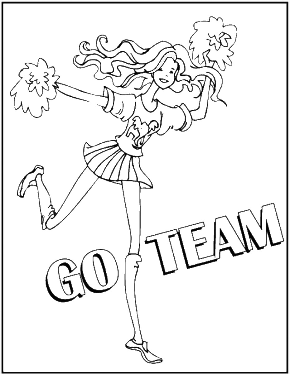 930x1200 Cheerleading Coloring Pages