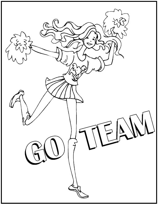 513x663 coloring pages cheerleading coloring pages 2 page cheerleading