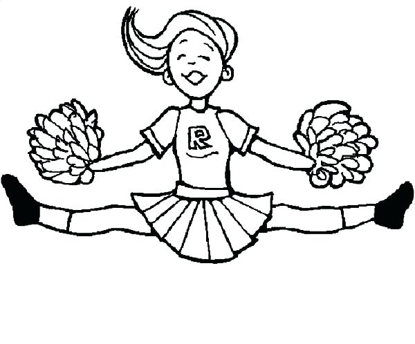 600x498 Here Are Cheerleading Coloring Pages Images Coloring Pages