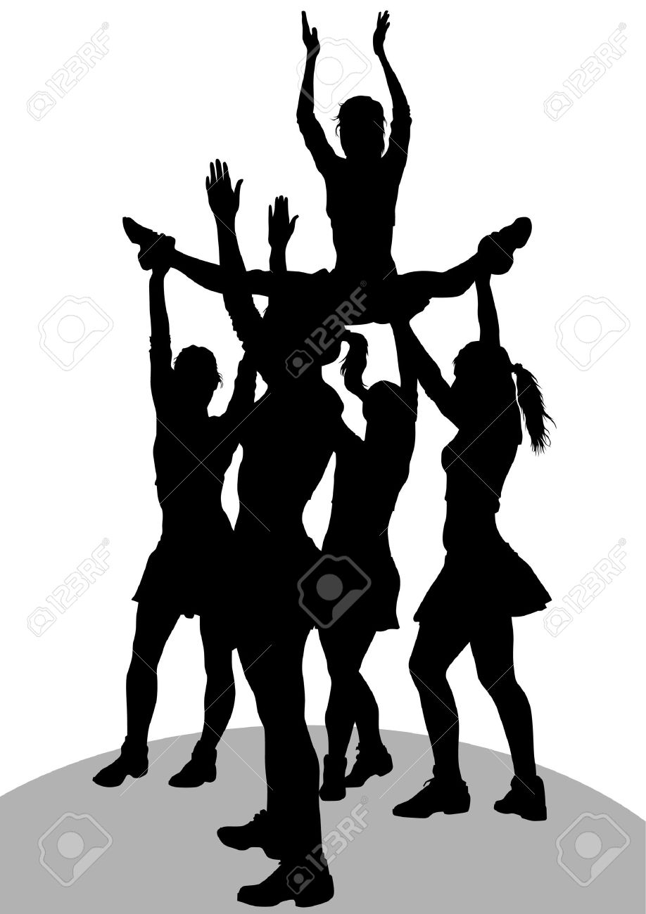 918x1300 Stunt Clipart Drawing Cheer