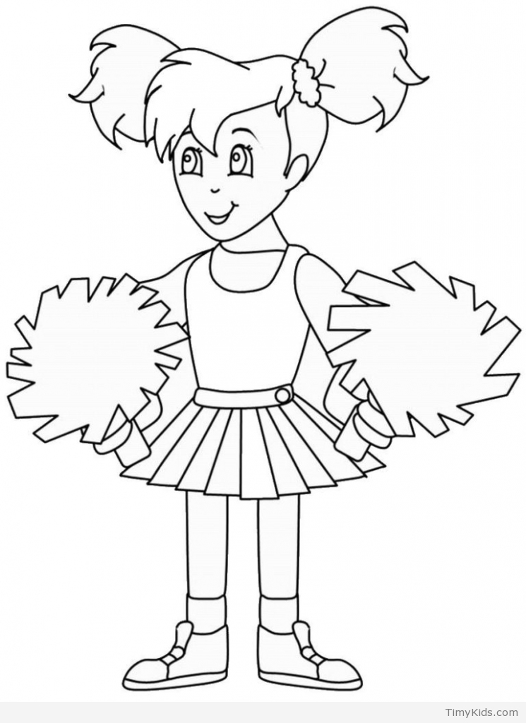 745x1024 Cheerleader Coloring Book Timykids