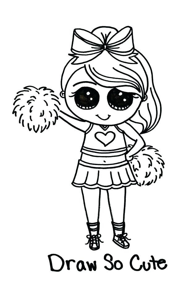 618x956 Cheerleader Coloring Pages