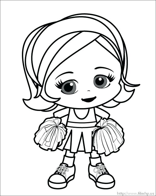 612x767 Cheerleader Coloring Pages Stunt Coloring Pages Cheerleader