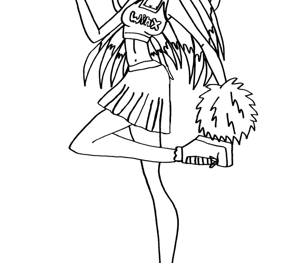 Cheerleading Drawing at GetDrawings.com | Free for personal use ...