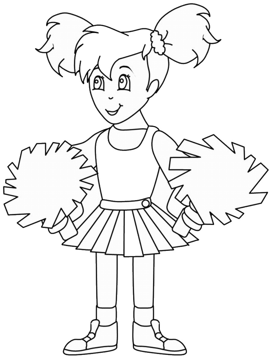 photograph regarding Free Printable Cheerleading Clipart known as Cheerleading Drawing at  Absolutely free for particular person