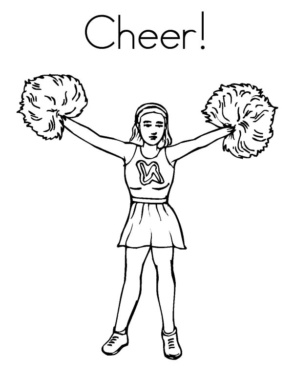 cheerleading drawing at getdrawings com free for personal use cheerleading coloring pages to print 600x776 cheerleader