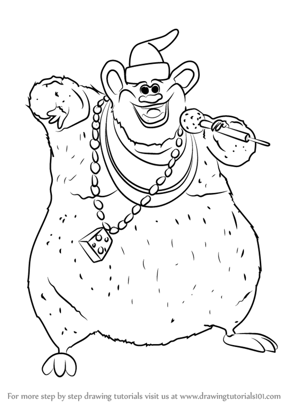 567x800 Learn How To Draw Biggie Cheese From Barnyard (Barnyard) Step By