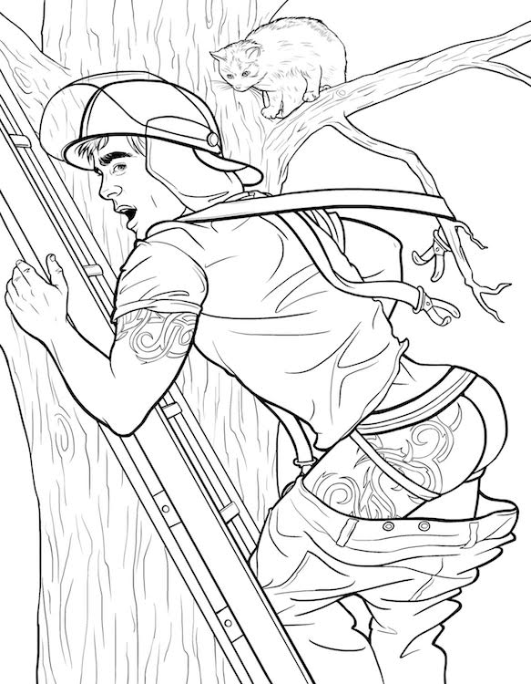 583x750 Cheesecake Boys' Is The Queer Pin Up Coloring Book We Didn'T Know