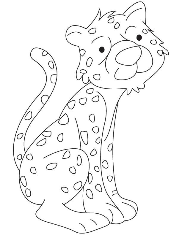 612x792 Cheetah Cub Coloring Page Download Free Cheetah Cub Coloring