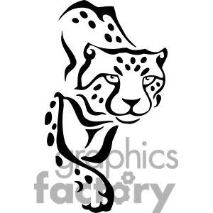300x300 Cheetah Clipart Face