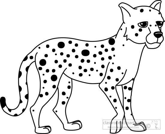 550x446 Cheetah Clipart Outline