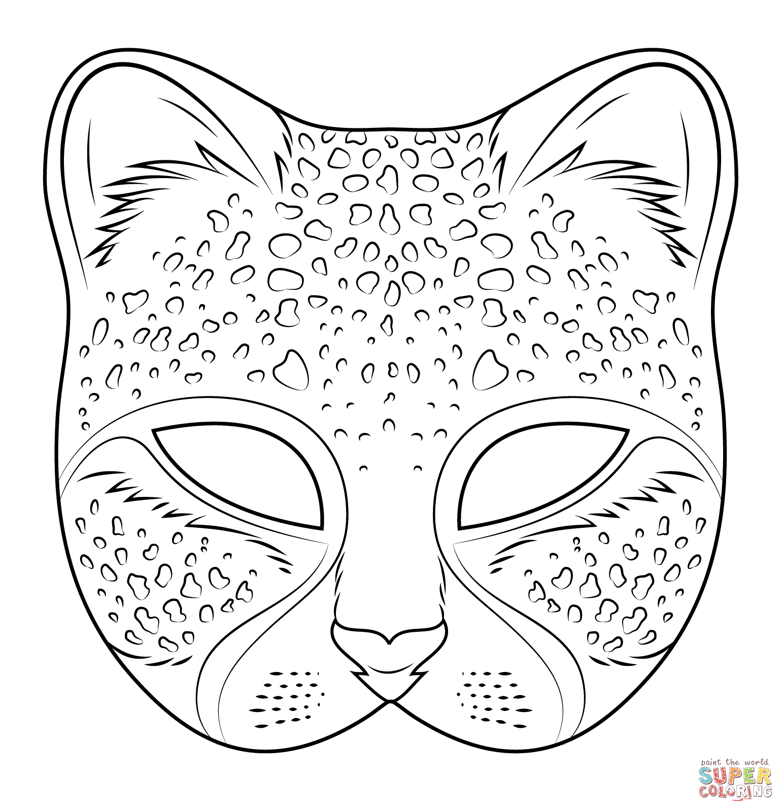 1545x1600 Cheetah Mask Coloring Page Free Printable Coloring Pages