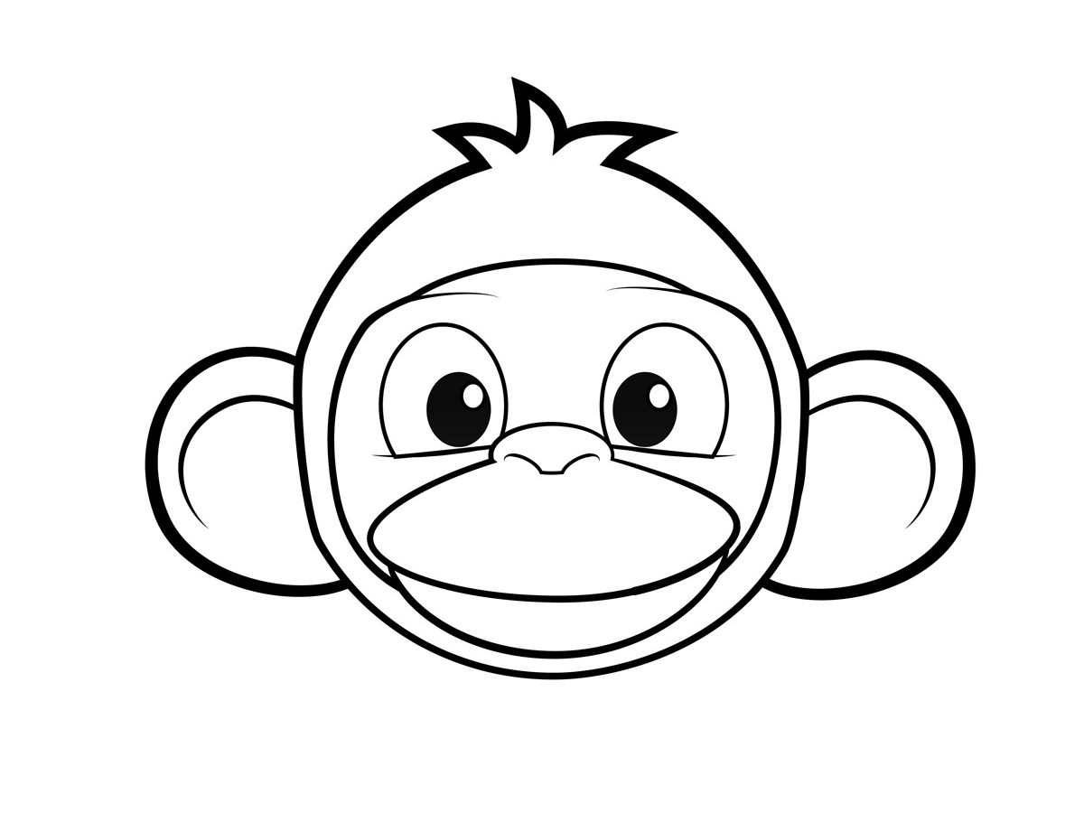 1200x900 Coloring Free Zoo Animal Faces Pages Page For Kids Printable